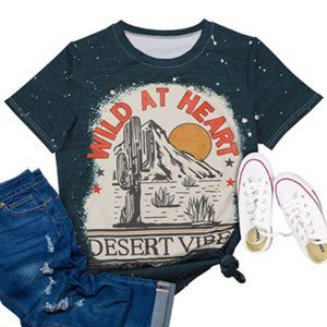 Wild At Heart Country Western Graphic T-Shirt